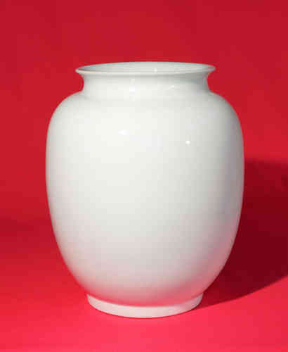 PV201 Vase white china - porcelain