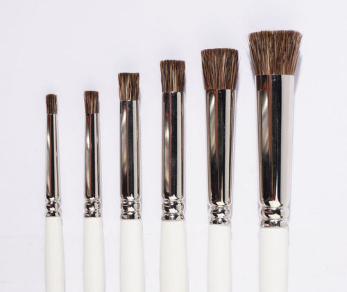 B17  Brushes for porcelain - stippler- straight