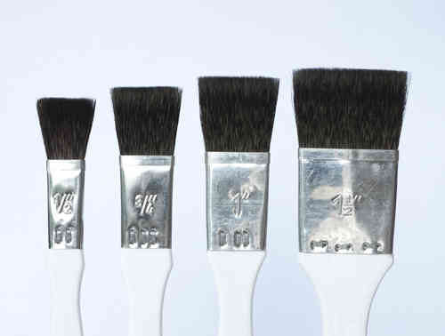 B13 Porcelain - China Painting Brush - Set- Flat