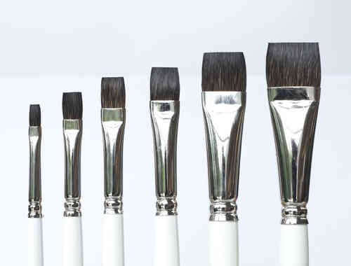 B9 Porcelain - China Painting Brush - Set- square shader