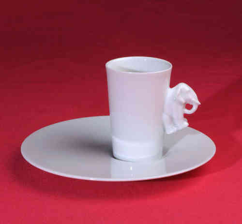 PC305 Espresso coffee cup Porcelain with saucer