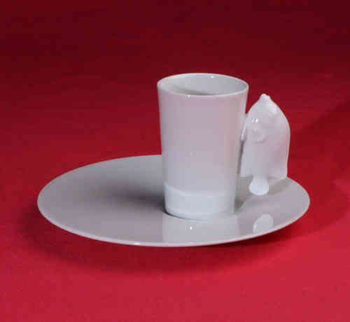 PC307 Espresso coffee cup Porcelain with saucer