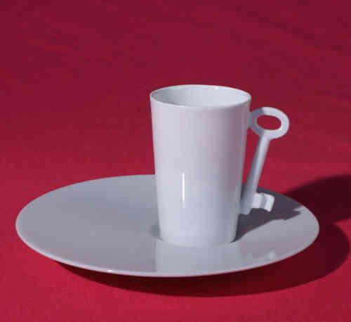 PC308 Espresso coffee cup Porcelain with saucer