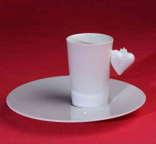 PC312 Espresso coffee cup Porcelain with saucer