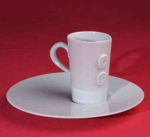 PC313 Espresso coffee cup Porcelain with saucer
