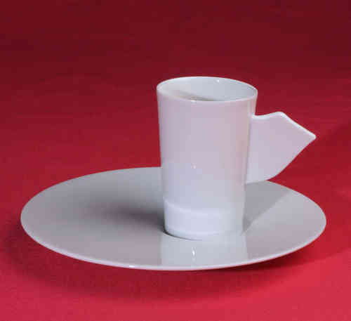 PC314 Espresso coffee cup Porcelain with saucer