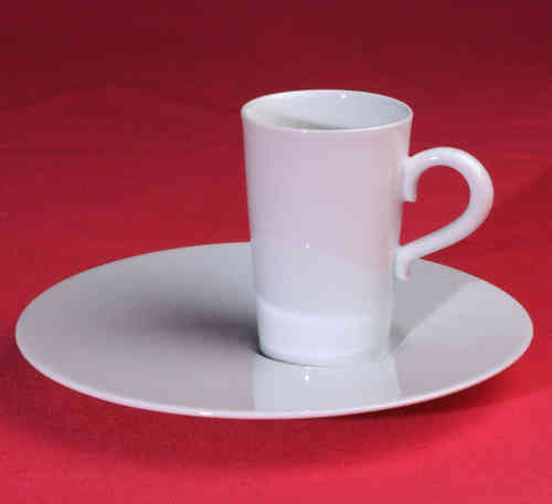 PC317 Espresso coffee cup Porcelain with saucer