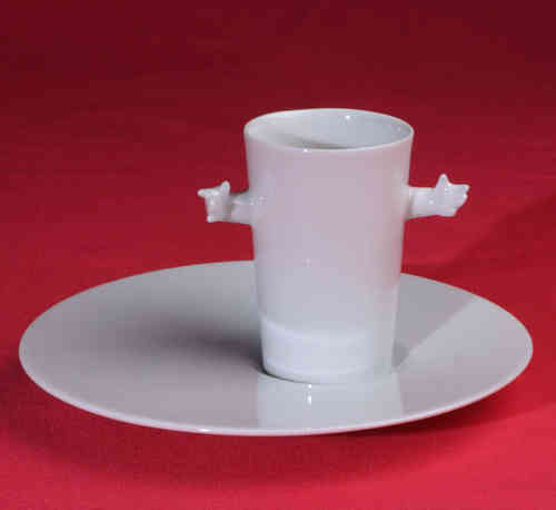 PC319 Espresso coffee cup Porcelain with saucer