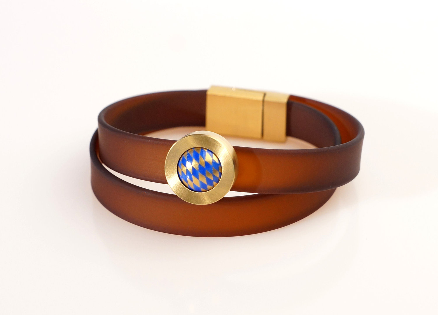 Bracelet Bayern - Brown - Blue Gold
